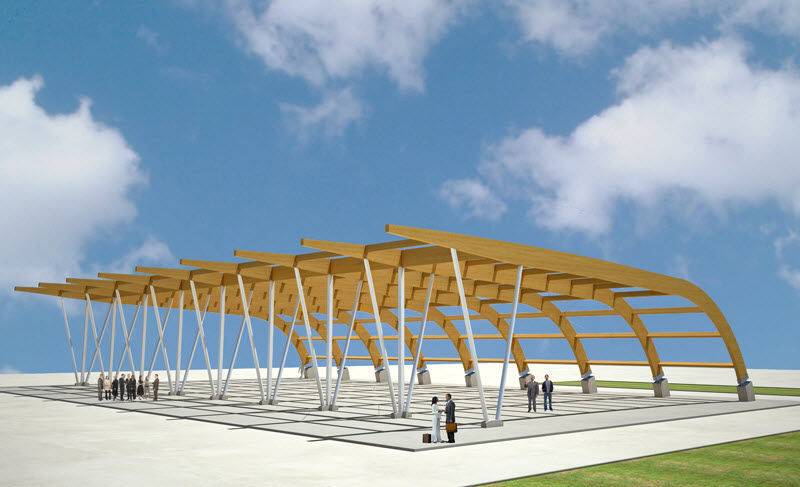 ... Tensile canopy / wooden frame supported / arch / roof WOODARCH WOOD SYSTEM INTERNATIONAL SRL ... & Tensile canopy / wooden frame supported / arch / roof - WOODARCH ...