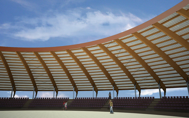Tensile canopy / wooden frame supported / arch / roof WOODARCH WOOD SYSTEM INTERNATIONAL SRL ... & Tensile canopy / wooden frame supported / arch / roof - WOODARCH ...