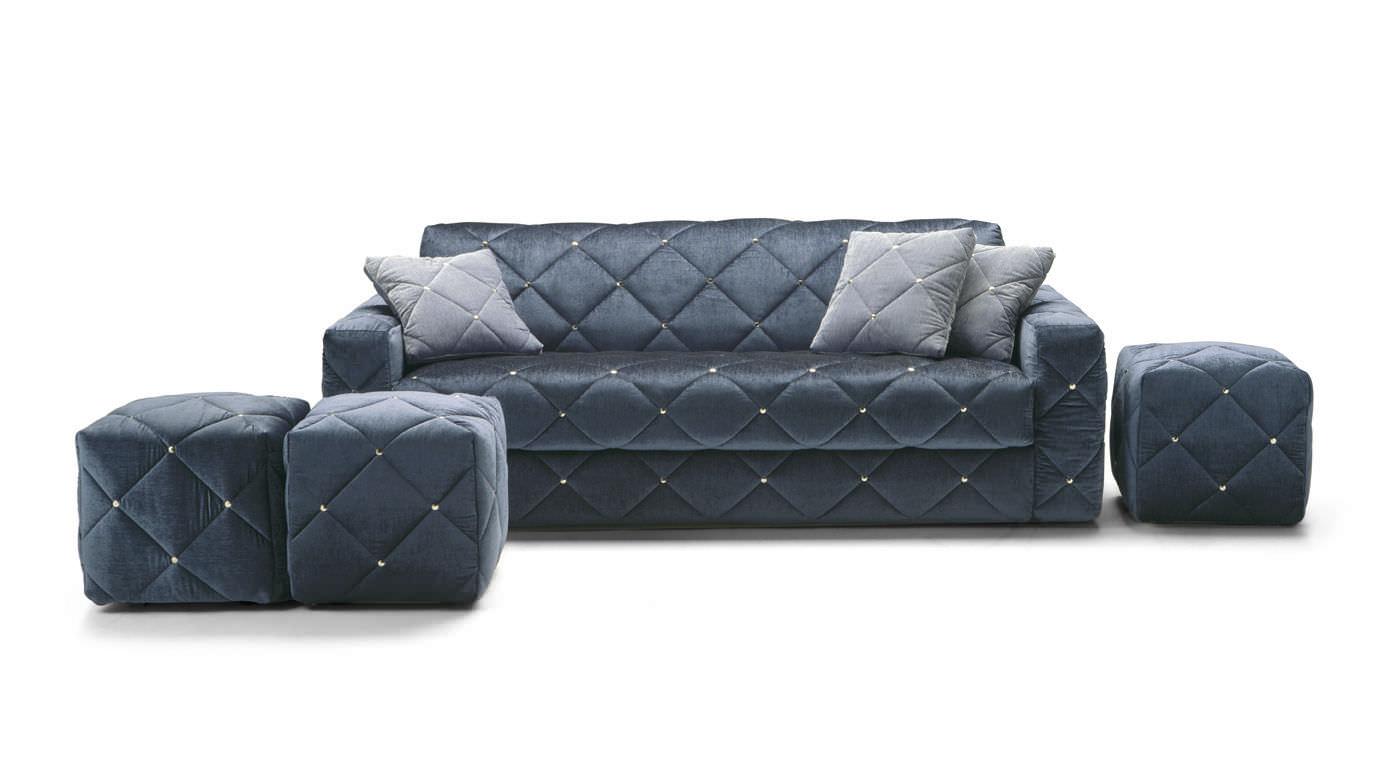 Sofa Bed Art Deco Fabric 2 Person Douglas By Elena Vigano