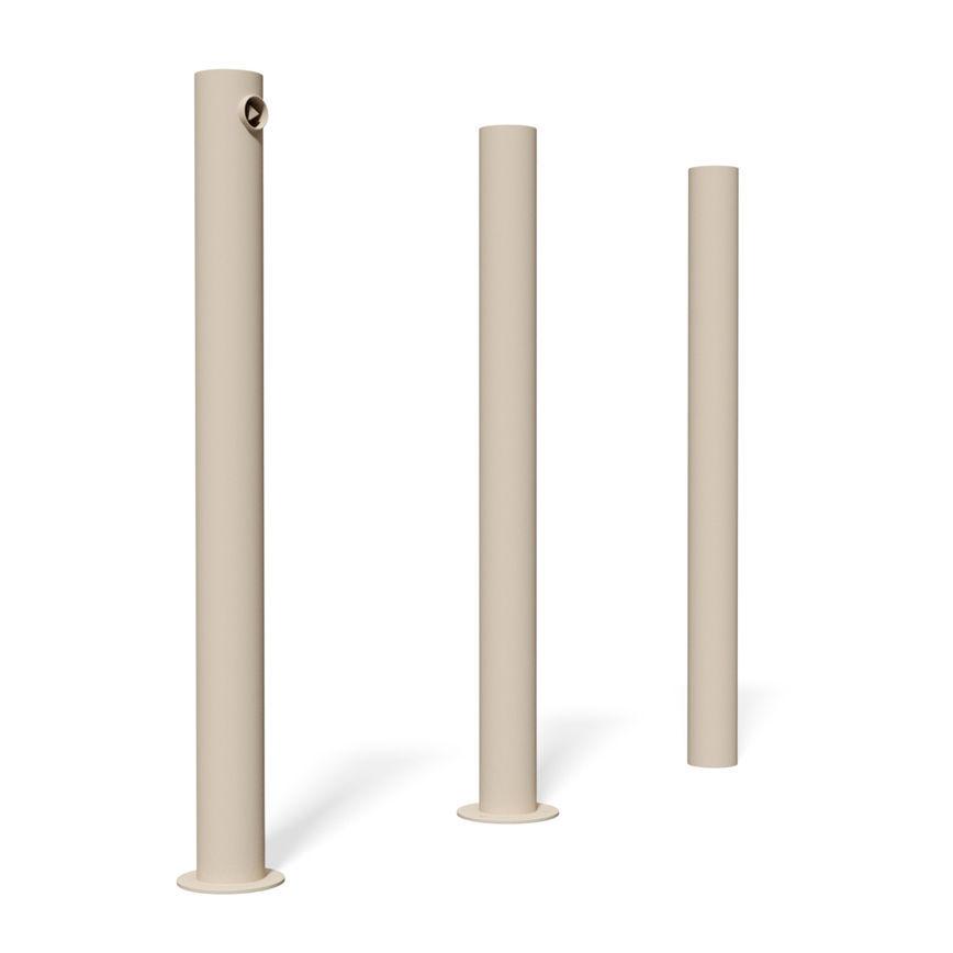 Security bollard / stainless steel / high - C200 - BENKERT BÄNKE