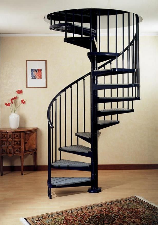 High Quality Spiral Staircase / Metal Steps / Metal Frame / Without Risers   ELEGANCE :  A8