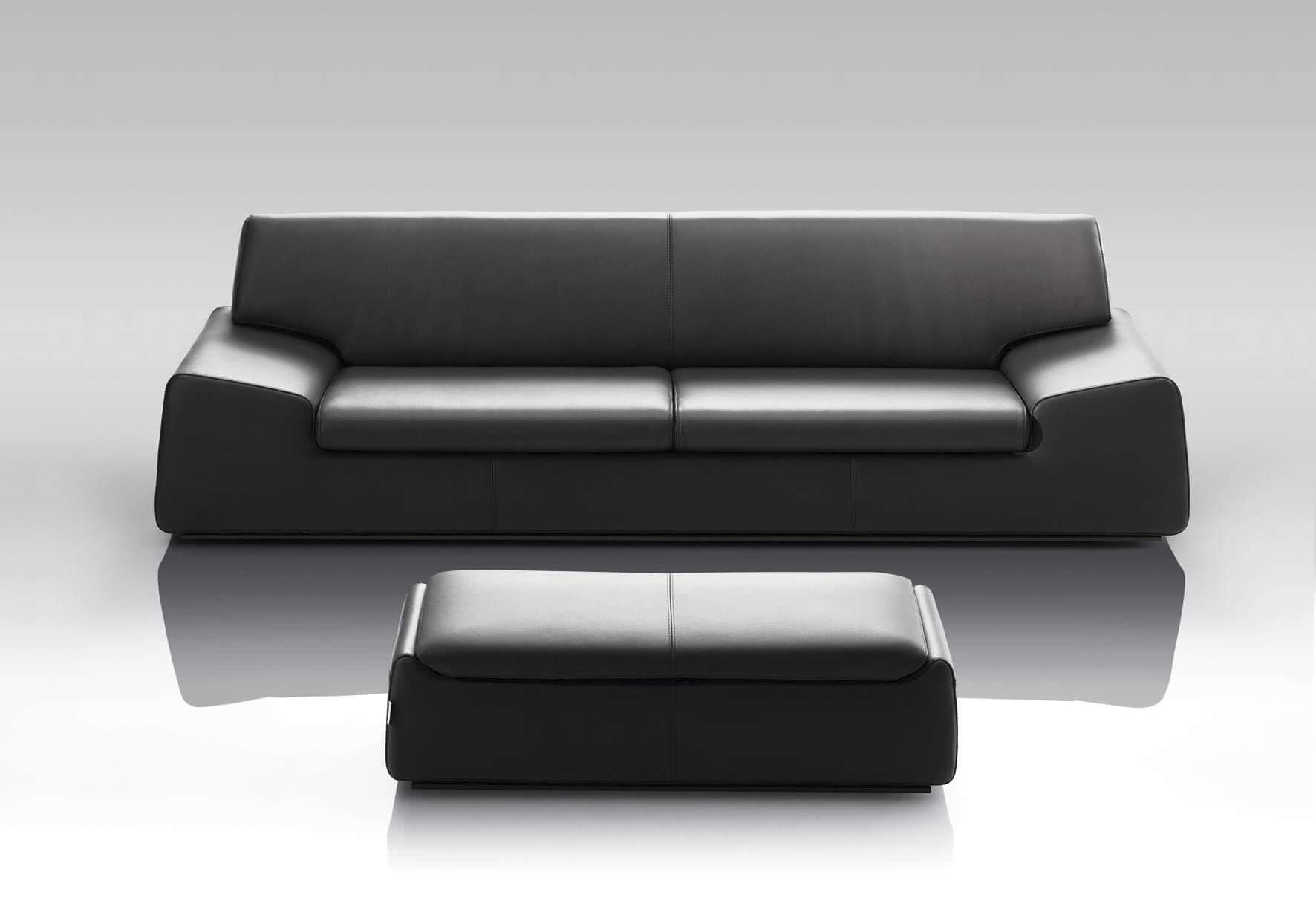 Sofa Bed Contemporary Leather Fabric Wind By Manzoni Tapini