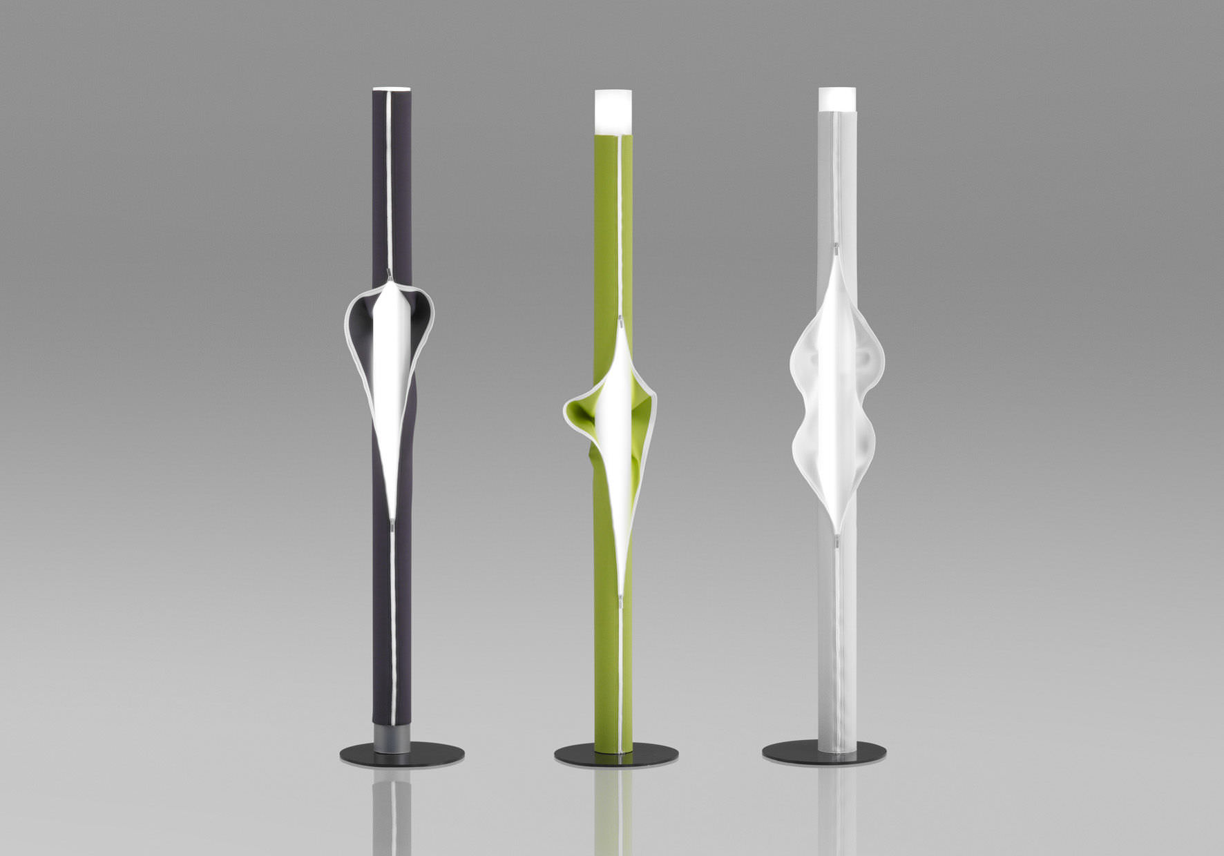 Floor Standing Lamp / Original Design / Fabric / Fluorescent   CACHE CACHE  By Victor Böeda