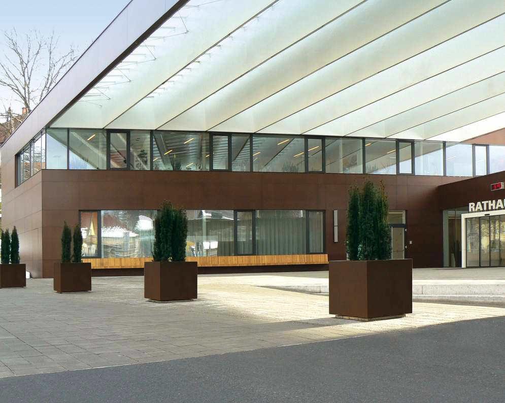 Metal Planter / Square / Contemporary / For Public Spaces   DAHLIA