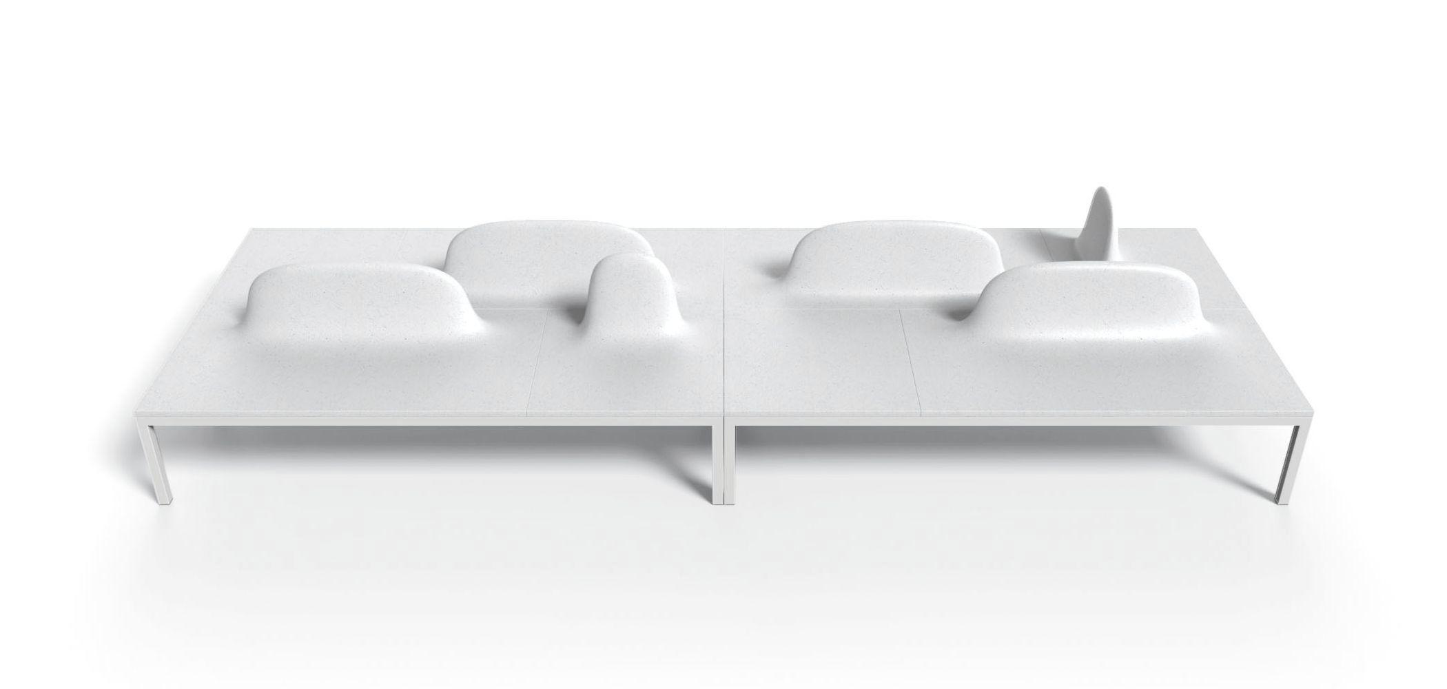 Garden Bench / Public / Contemporary / Metal UHPC ULURU COLLECTION METALCO  ...