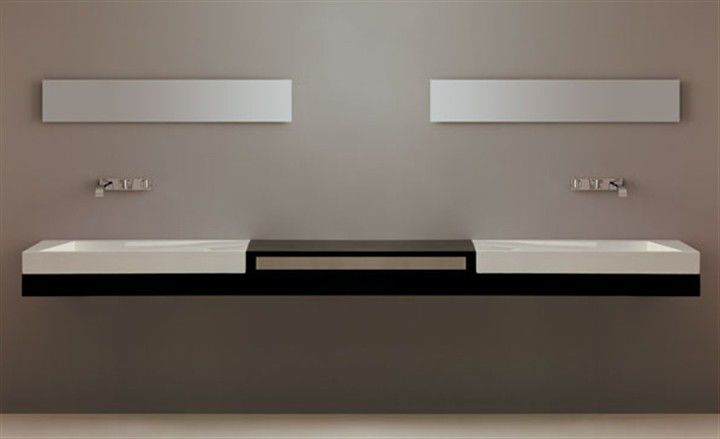 double vanity top oak dx sx 245 - Doubles Vasques Design