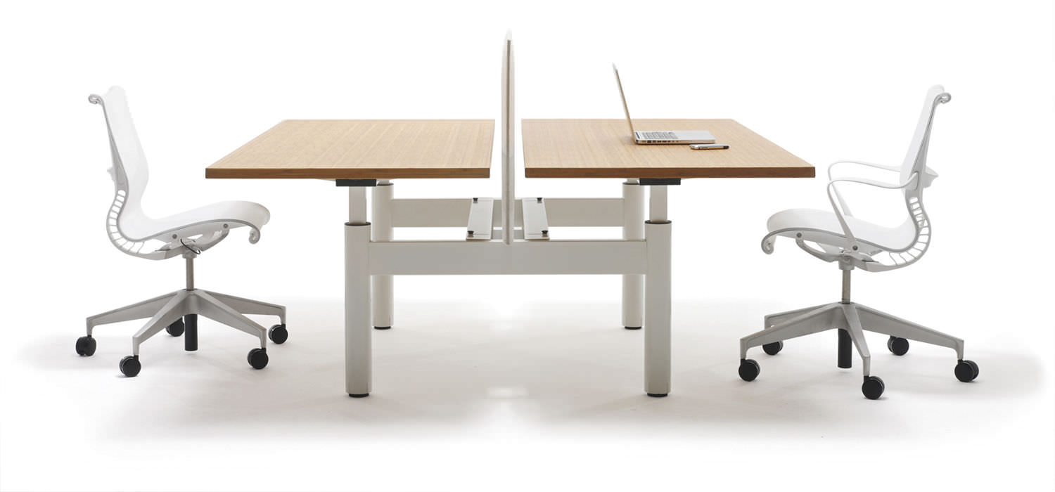 workstation desk wooden metal contemporary tm dual by peter rh archiexpo com Dual Workstation Home Office Dual Computer Workstations for Home