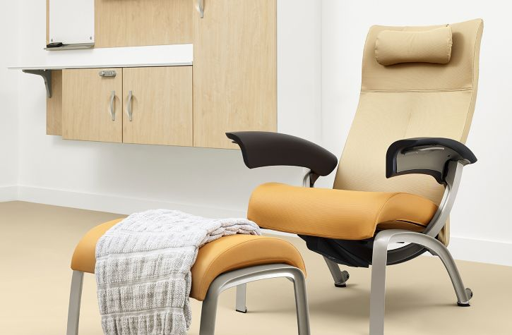 Attractive Fabric Medical Chair / Brown NALA Nemschoff ...