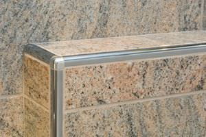 Stainless Steel Edge Trim For Tiles Rounded Schluter Rondec Systems