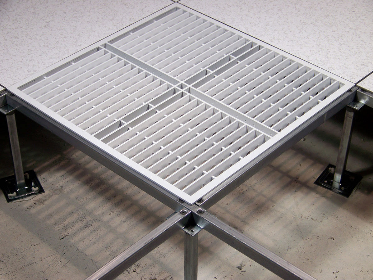 Aluminum Raised Access Floor / Indoor / Perforated   DIRECTAIRE®