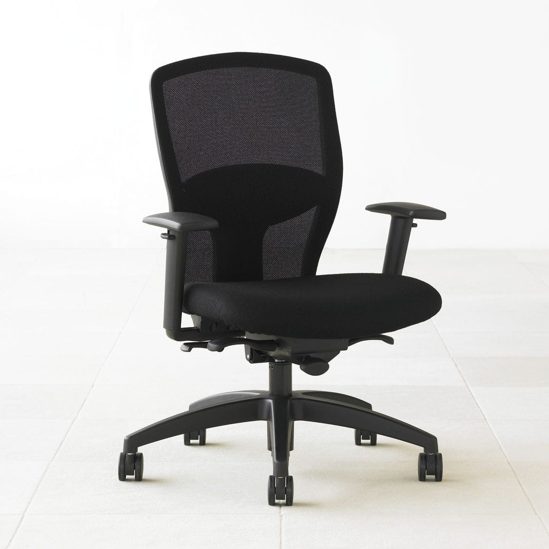 Contemporary Office Armchair / Mesh / On Casters / Reclining ...