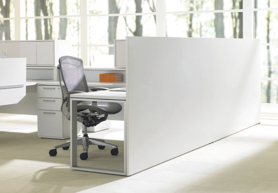 Floor Mounted Office Divider Countertop Glass Laminate