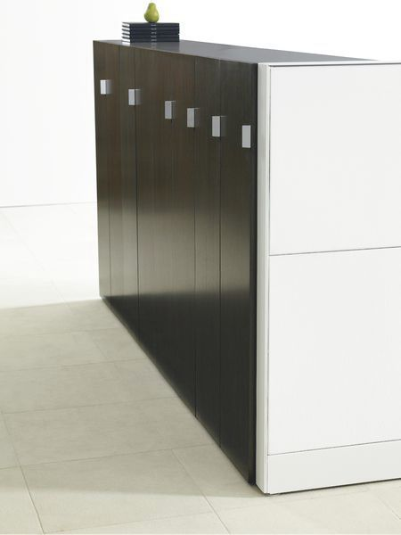 Low filing cabinet / tall / wooden / aluminum - DISTRICT - Teknion ...