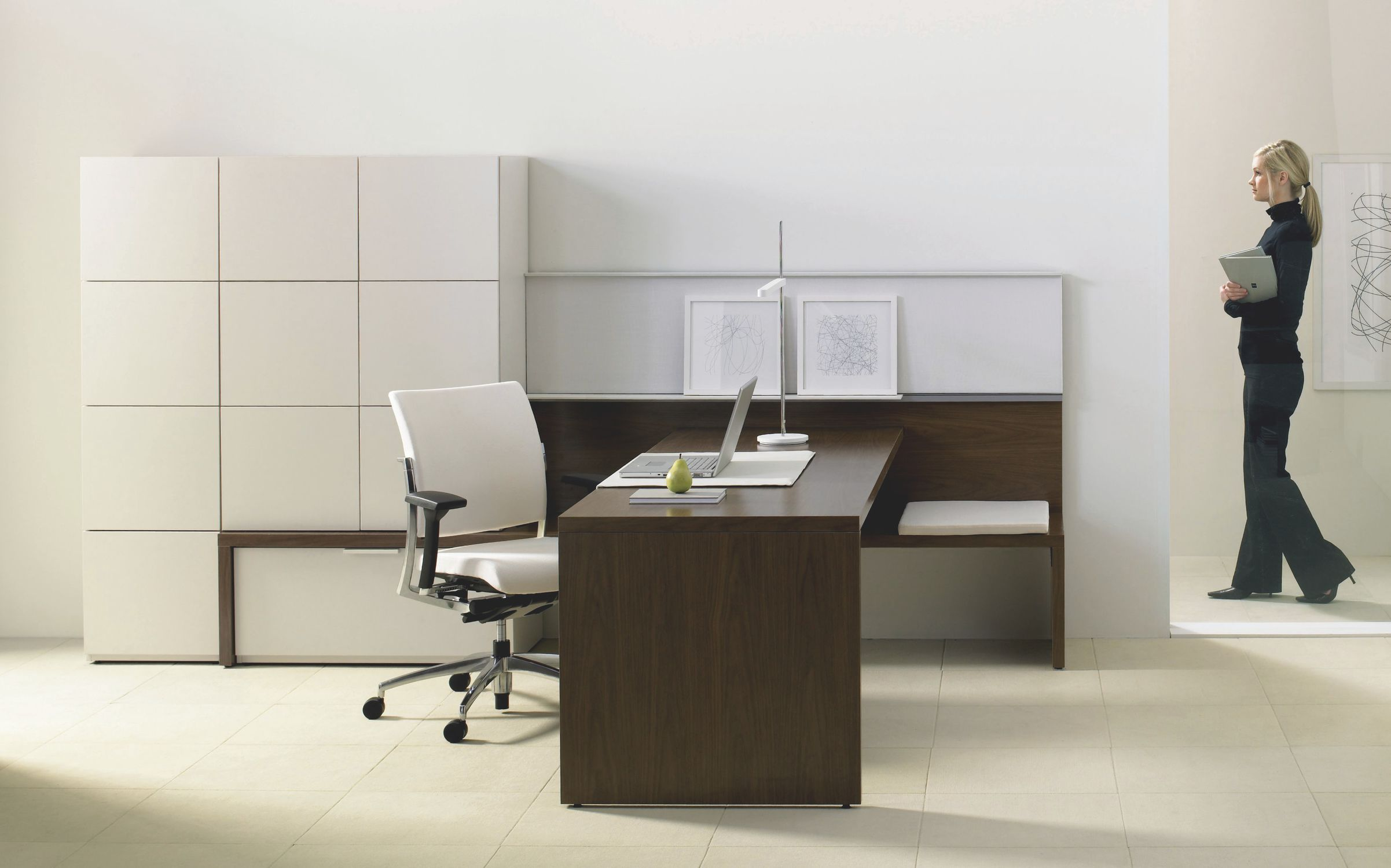 Commercial desk and storage set EXPANSION Teknion Videos