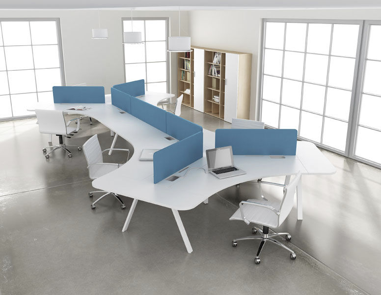 workstation desk laminate contemporary commercial tonic - Modern Furniture Stores San Antonio