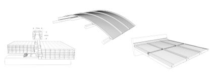 Polycarbonate roofing panel / with UV protection - PC 2600