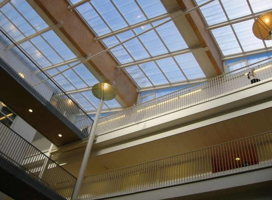 Polycarbonate Roof Panel / With Aluminum Frame THERMOLIGHT 1000 Rodeca GmbH
