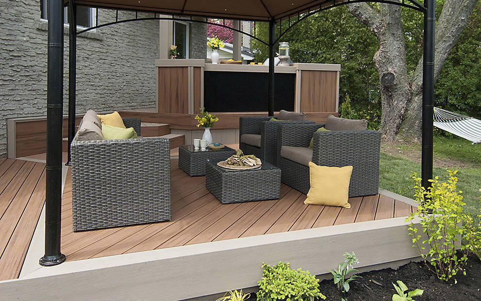 WPC Deck Boards Wood Look Recycled TRANSCEND ROPE SWING - Garden decking rope