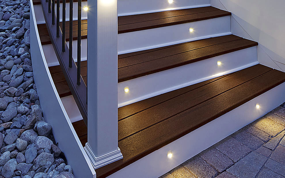 Recessed Light Fixture / LED / Round / Outdoor. STAIR RISER Trex Inc.