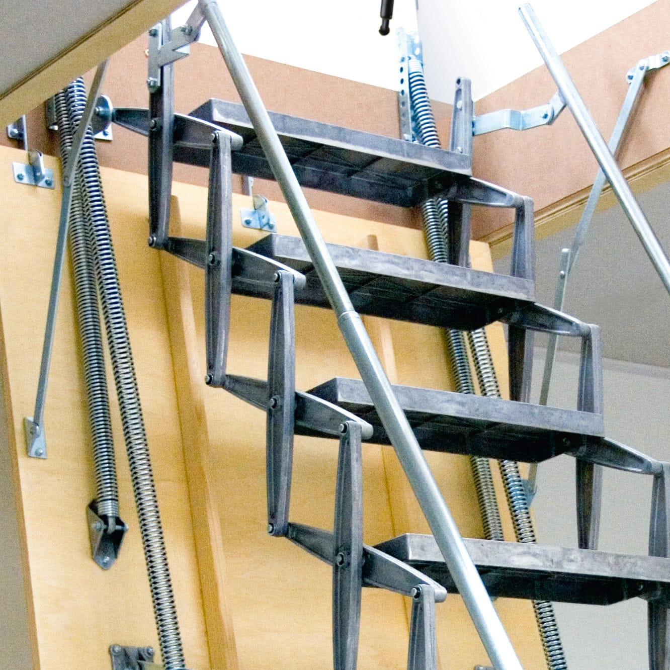 Accordion Protection Ladder / For Roof Hatches / Motorized / Retractable ...