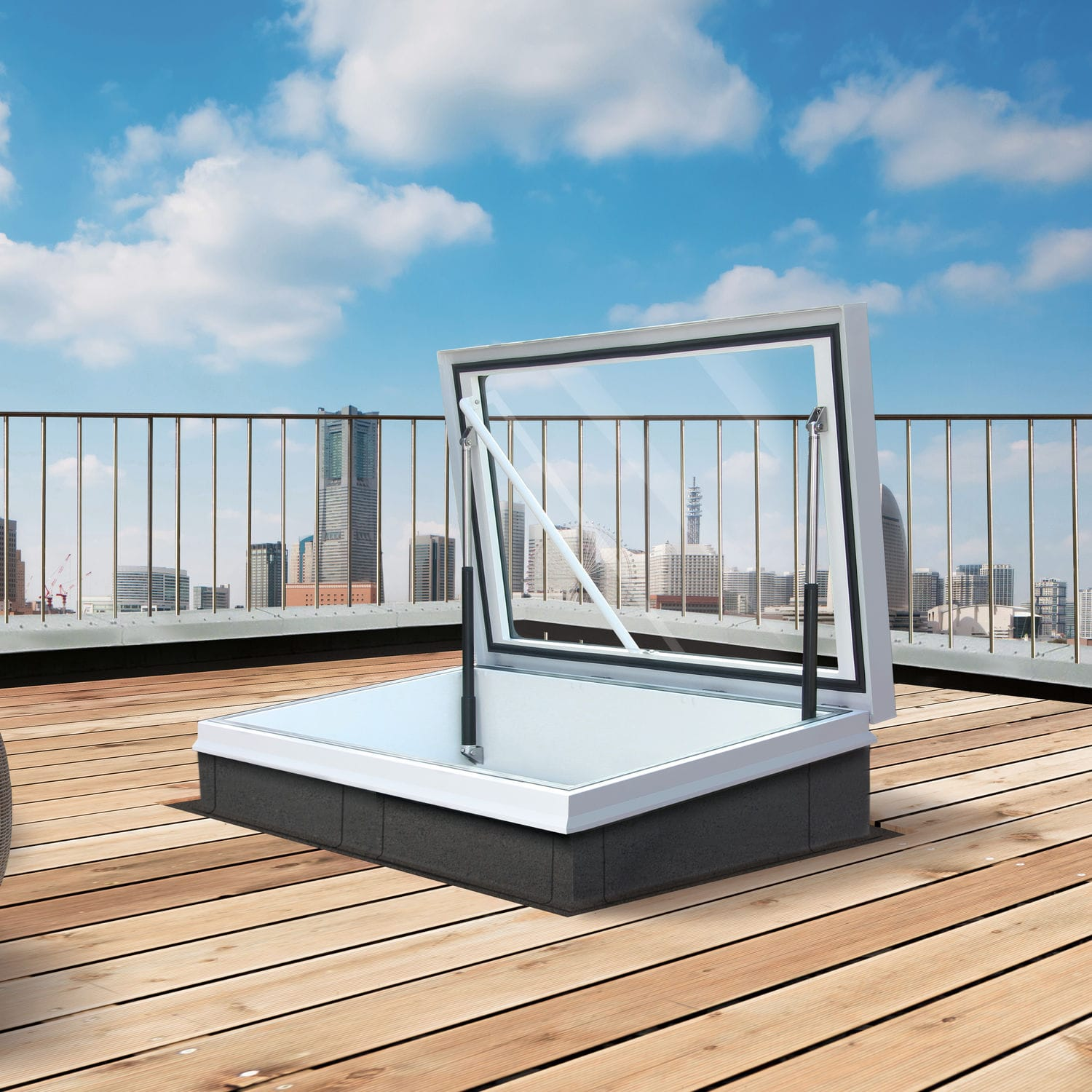 Home roof access glazed roof hatch glazed roof hatch - Roof Hatch Rectangular With Translucent Glass Thermal Break Rhtg1015