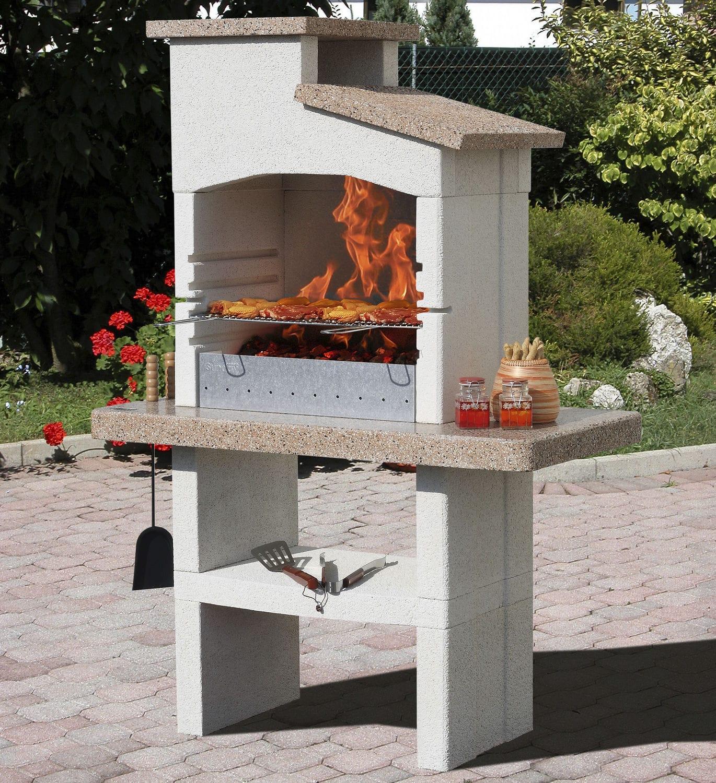 charcoal barbecue wood burning engineered stone milos sunday