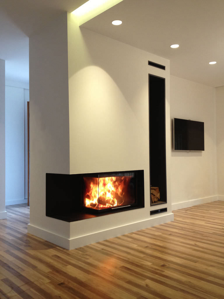Wood fireplace insert / corner RCR 70 LI ROCAL - Wood Fireplace Insert / Corner - RCR 70 LI - ROCAL