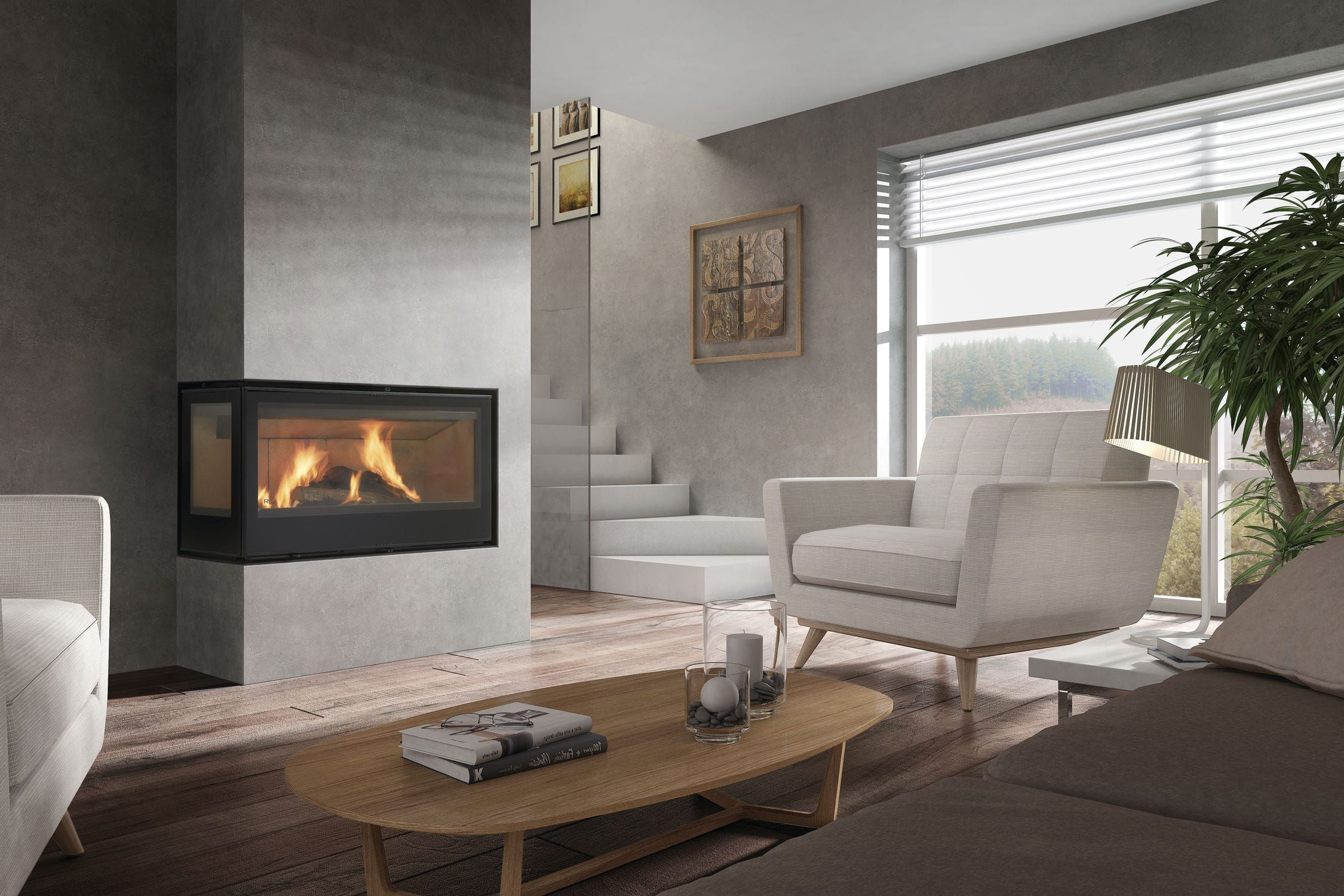 wood burning fireplace insert corner rcr 100ld graffiti rocal