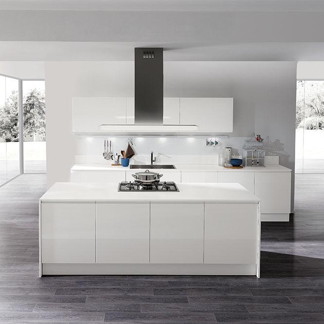 Contemporary kitchen / melamine / island / lacquered - MASCA ...