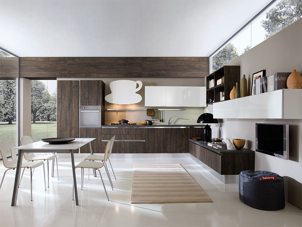 Contemporary Kitchen Fenix NTM Ecological Highgloss - Cuisine aran