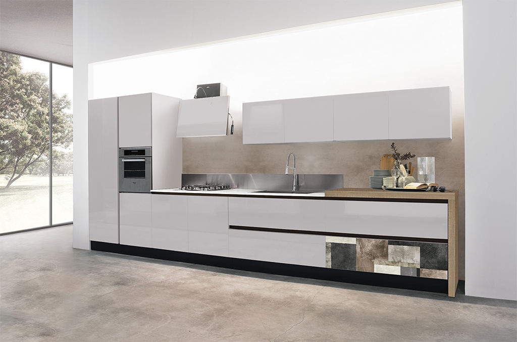 Contemporary kitchen / aluminum / laminate / island - PENELOPE ...