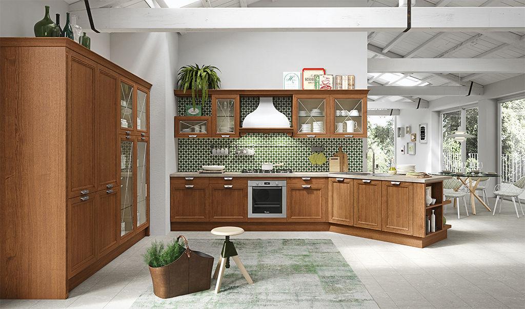 Contemporary kitchen / wooden / stainless steel / island ...
