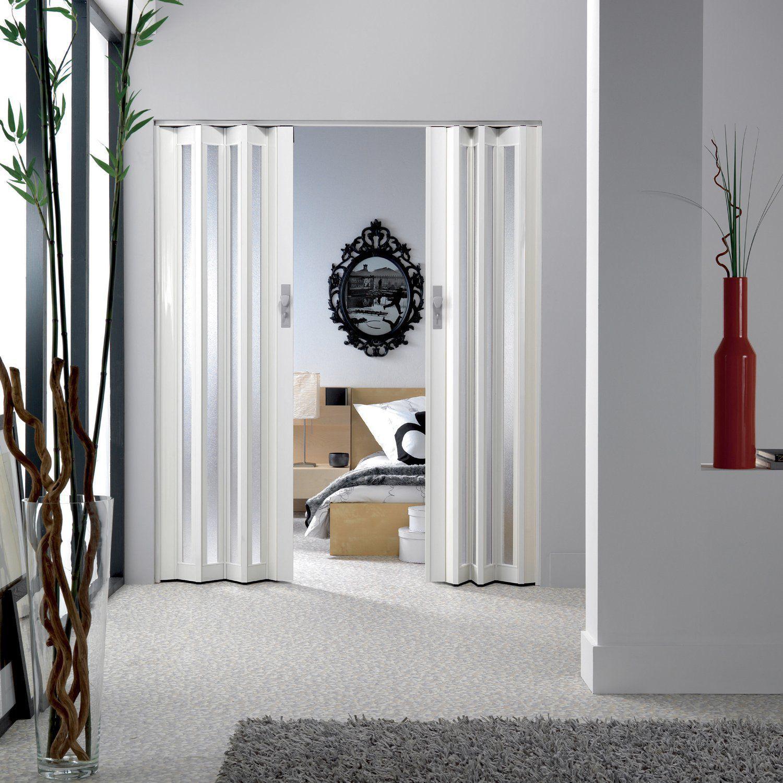 Indoor door / folding / wooden / semi-glazed - LARYA - GROSFILLEX ...