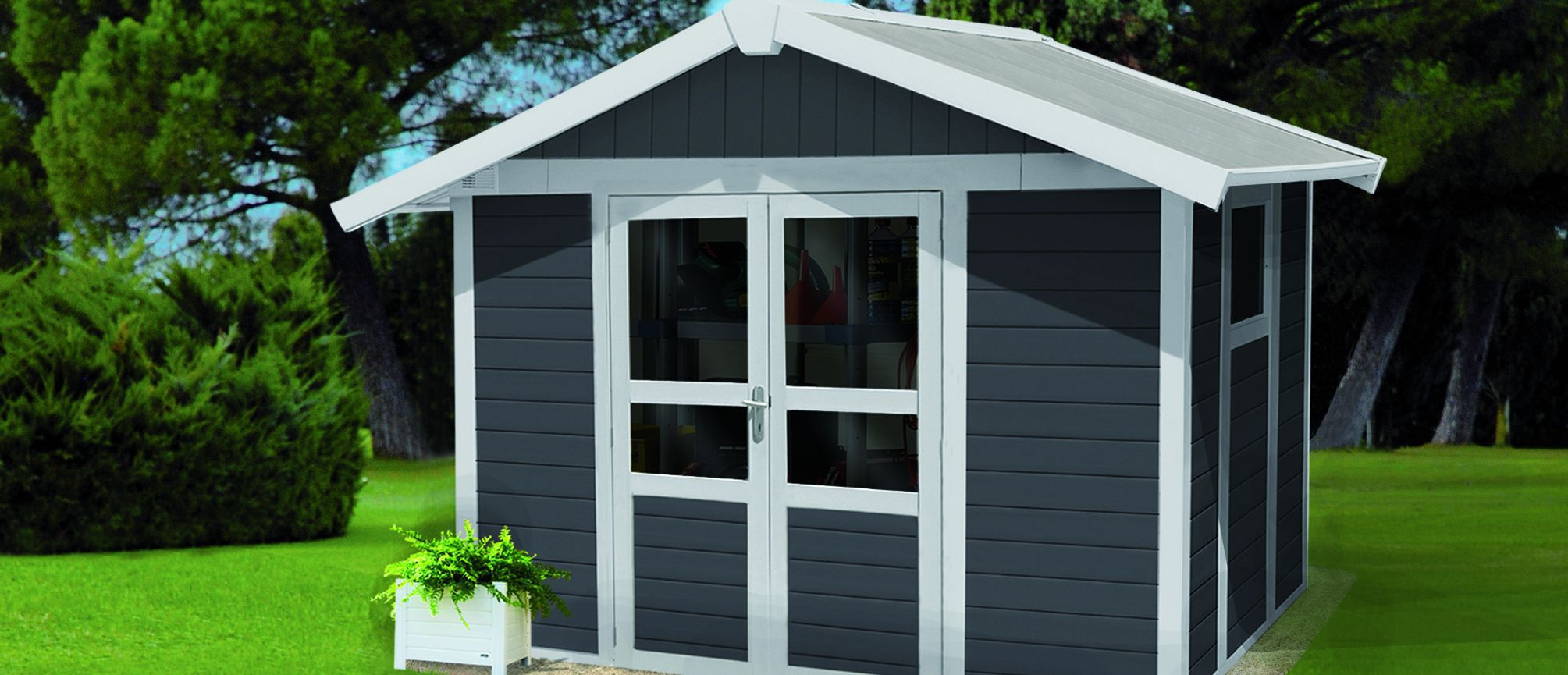 Delightful Metal Garden Shed / Recycled Plastic / Contemporary / Residential   BASIC