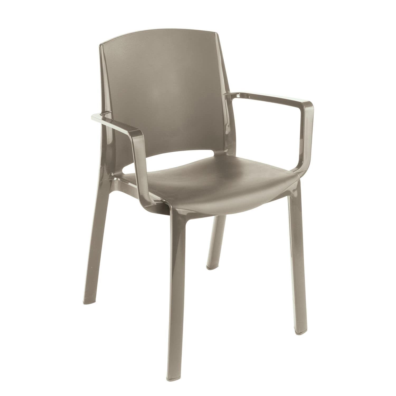 Contemporary garden chair stackable PVC MILTON GROSFILLEX
