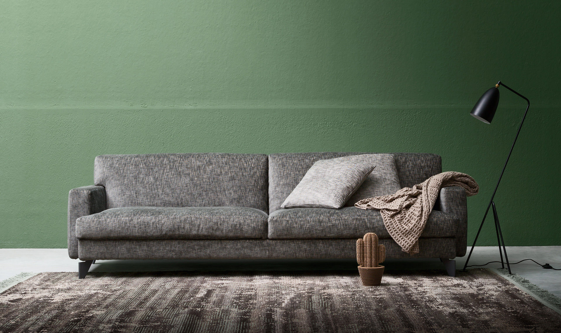 Modular Sofa Contemporary Fabric Leather Utah By Enrico Cesana
