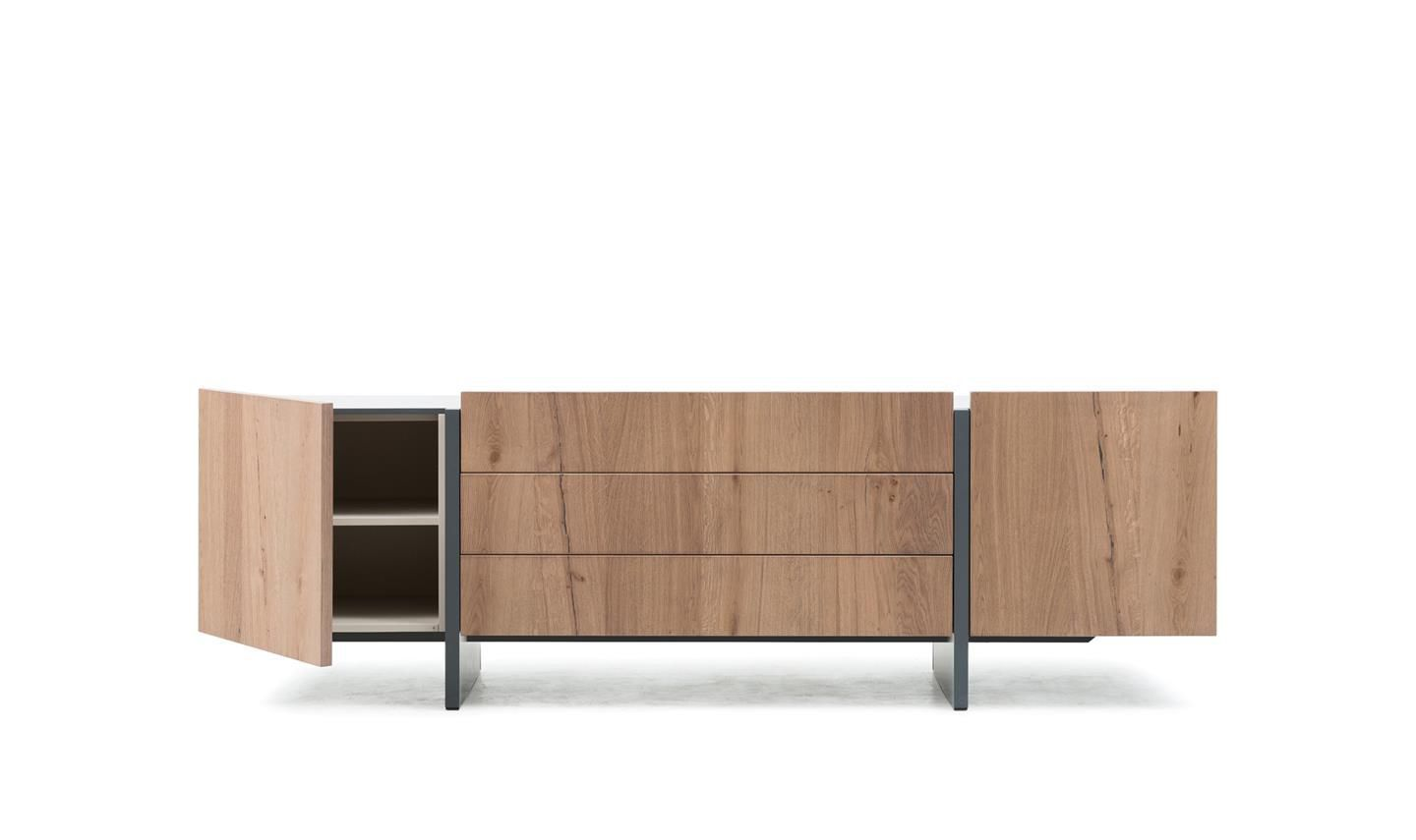 Contemporary Sideboard Wooden Yellow Recta By Marelli
