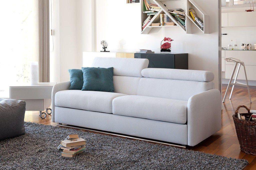 Sofa bed / contemporary / leather / fabric - ROYAL - Alpa Salotti