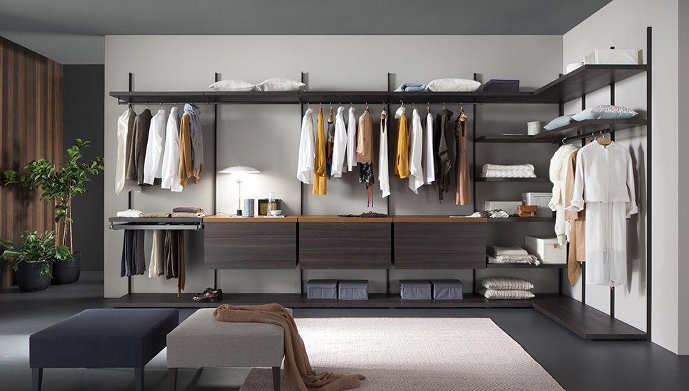 Cabina Armadio Walk In Closets : Wall mounted walk in wardrobe contemporary aluminum