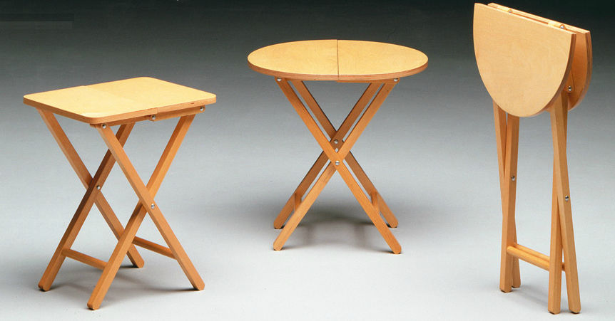 Merveilleux Contemporary Side Table / Wooden / Folding