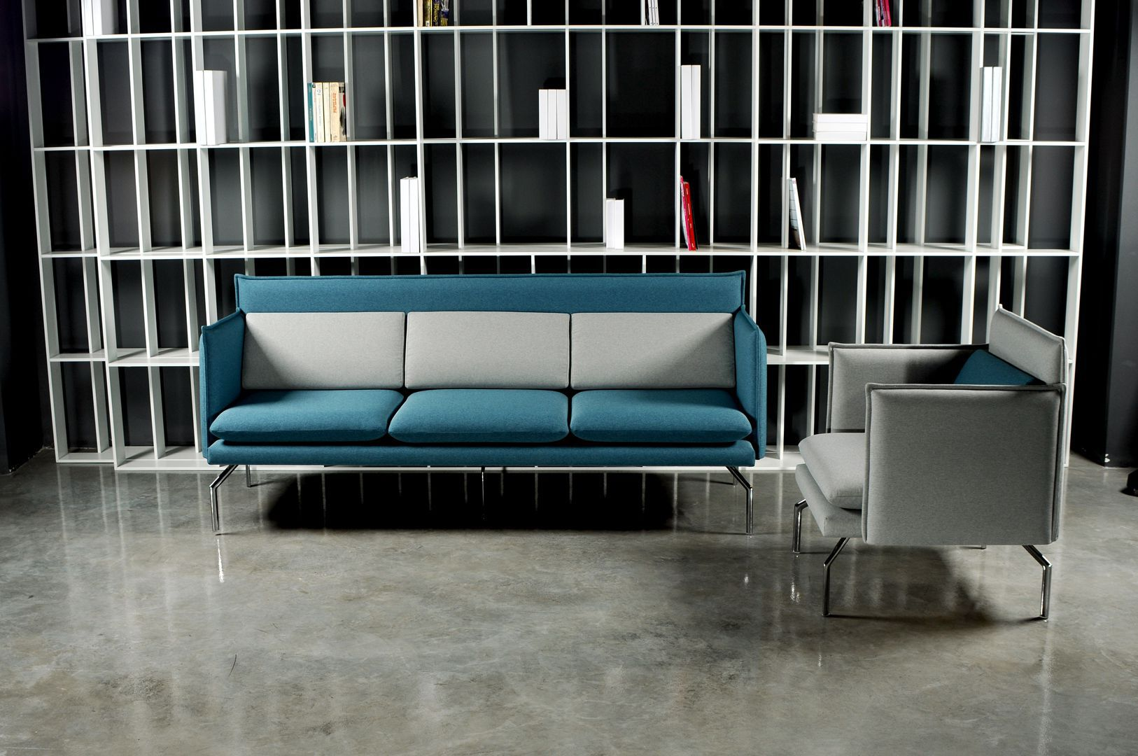 Schlafsofa design lounge  Contemporary sofa / leather / synthetic leather / fabric - CUBE ...