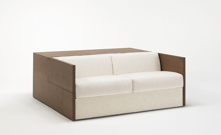 Sofa Bed Contemporary Fabric 2 Person