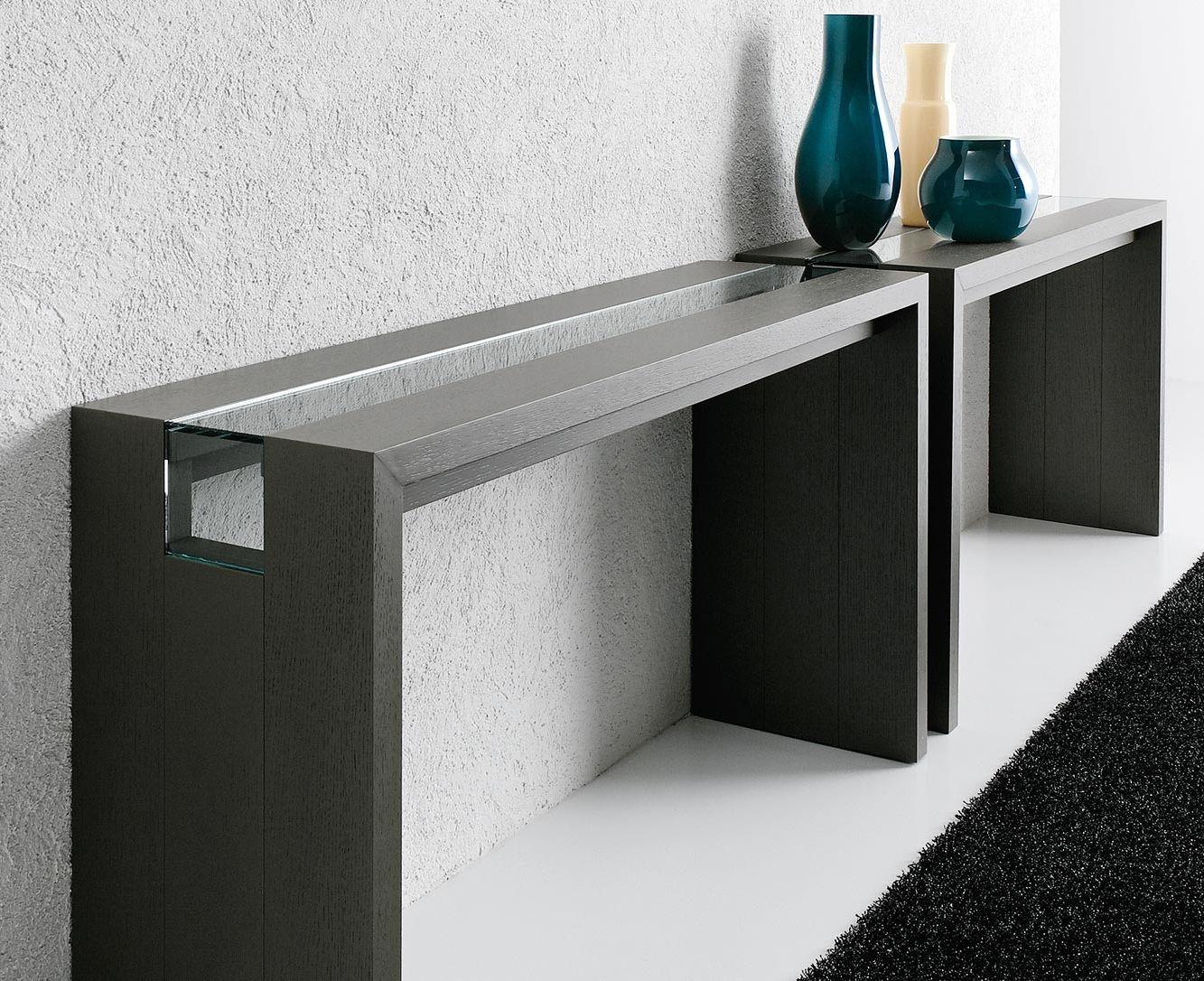 Contemporary Sideboard Table / Glass / Oak / American Walnut   RITZ By  Ennio Arosio