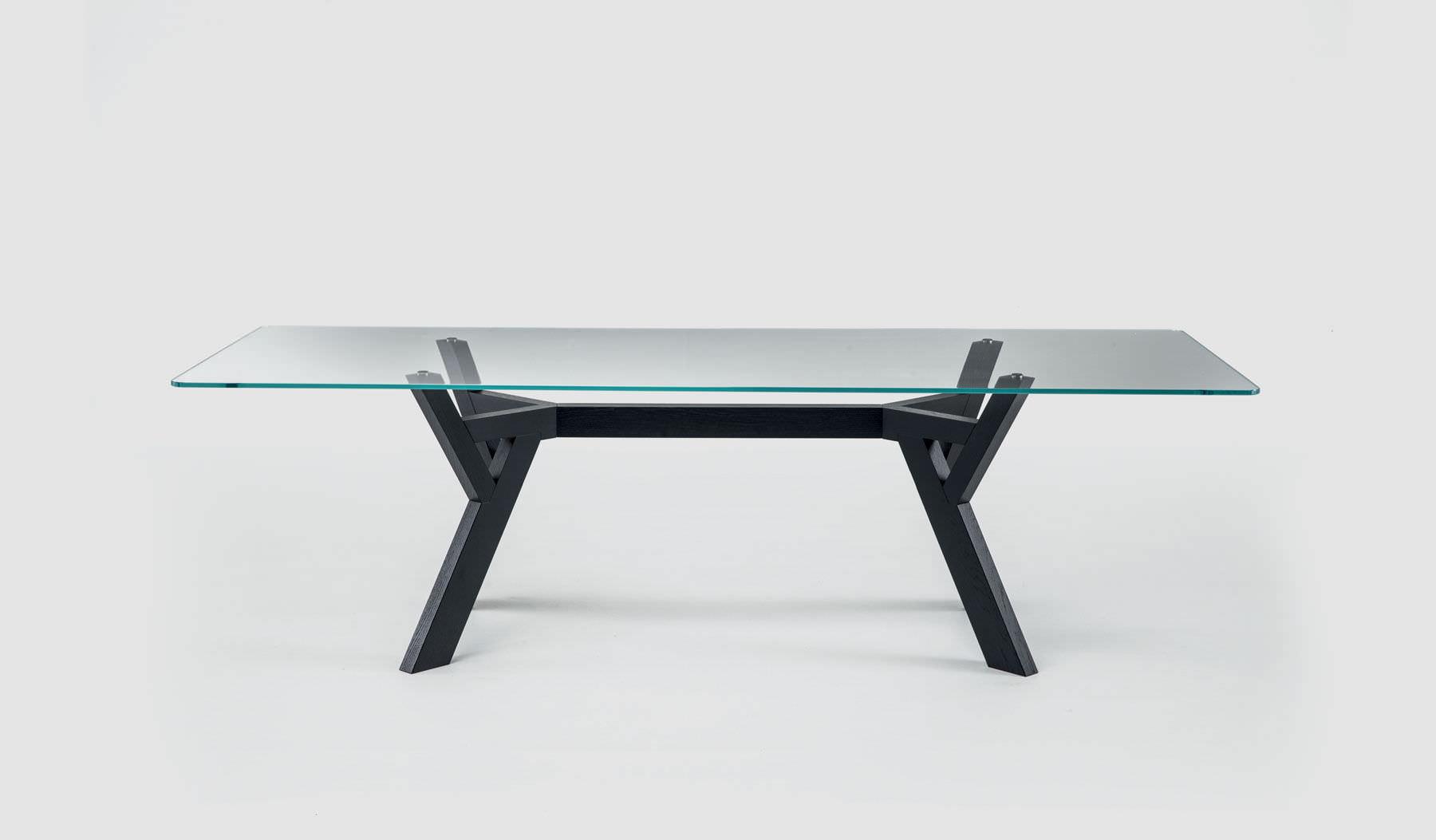contemporary table  wooden  glass  marble  trigono by enzo  -  contemporary table  wooden  glass  marble trigono by enzo bertibross italia
