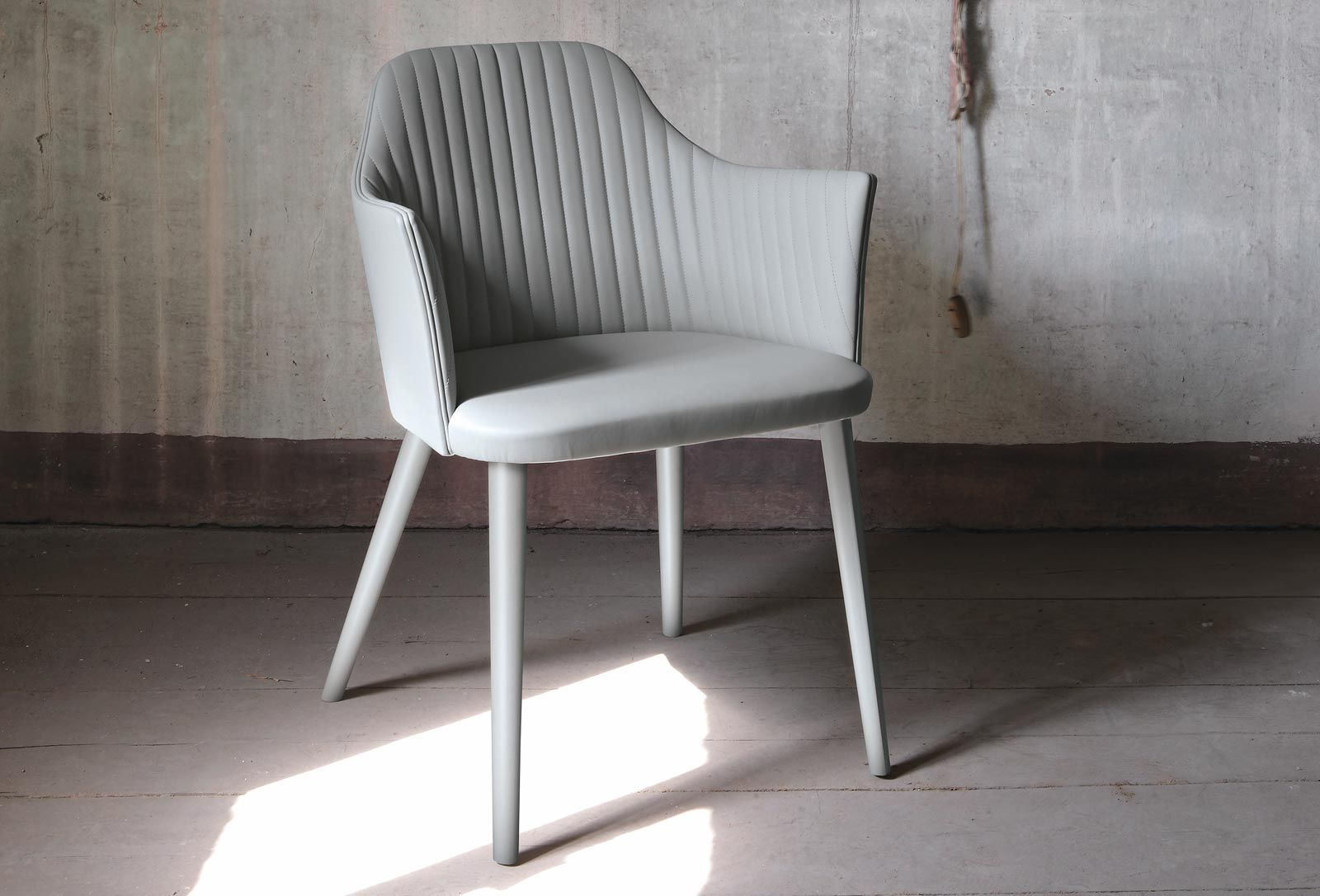 Contemporary fabric chairs -  Contemporary Chair Fabric Wooden Leather Break By Enzo Berti Bross Italia