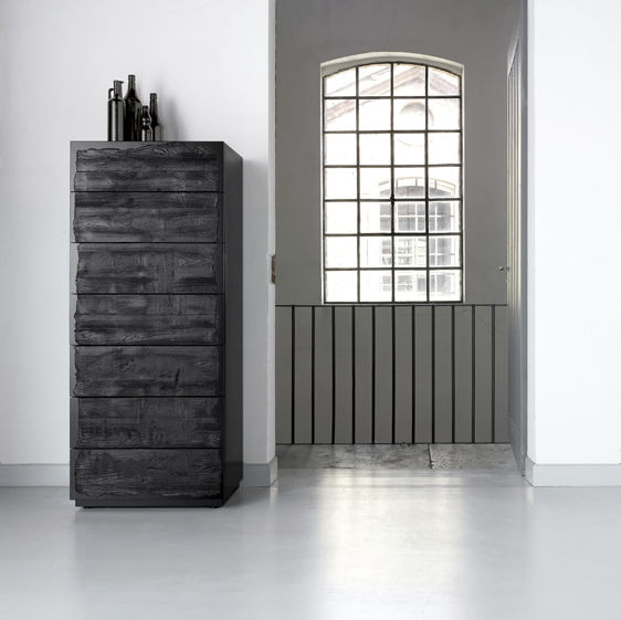Contemporary chiffonier / lacquered wood / gray - CENTOTRENTACINQUE ...