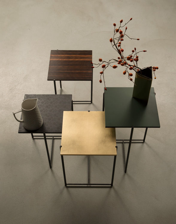 ... Contemporary side table / wooden / metal / square MINI by Alessio  Bassan Capo D'