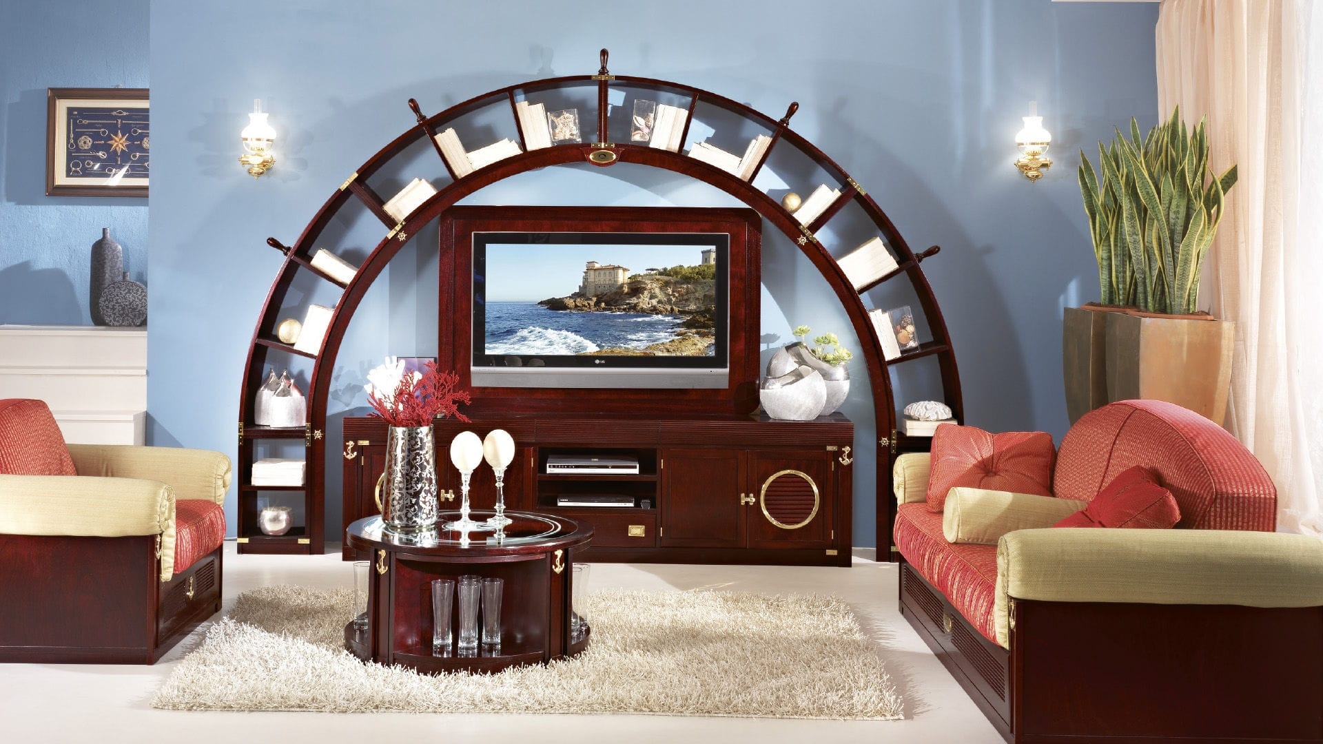 Traditional Living Room Wall Units traditional living room wall unit / wooden / glass - 833 - caroti