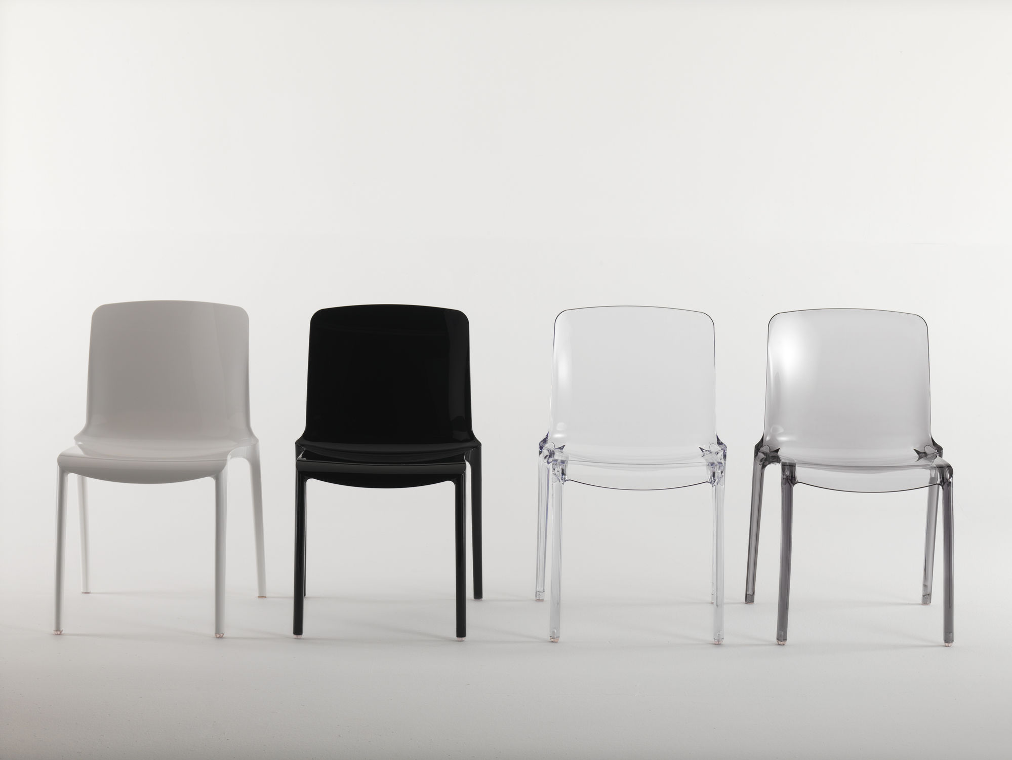 Contemporary restaurant chair stackable polycarbonate