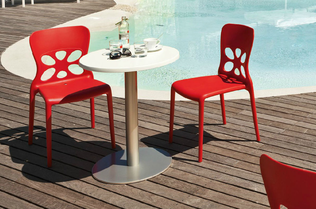 neon furniture. Contemporary Garden Chair / Stackable Polypropylene - NEON Neon Furniture